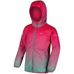 Regatta Printed Lever Jacket Kids Hot Pink/Island Green